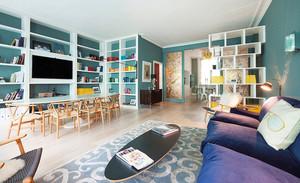 混搭风格精美复式楼室内装修效果图