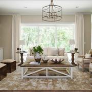 欧式风格别墅室内精美客厅设计装修效果图