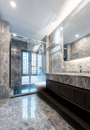 10平米现代风格大户型卫生间设计装修效果图