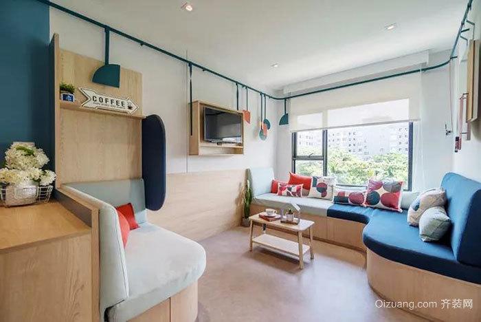 现代简约风格小户型客厅设计装修效果图