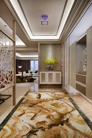 新古典主义风格精美大户型室内设计效果图,玄关处的设计,奢华典雅,精美的大理石地板,精致的吊顶和镂空隔断设计,让玄关看起来精美舒适。