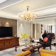 新古典主义风格精致客厅吊顶设计装修效果图