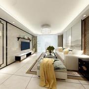 新中式风格精致典雅客厅设计装修效果图