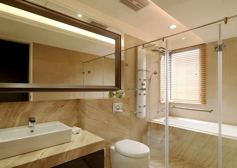 新中式风格精致素雅卫生间设计装修效果图