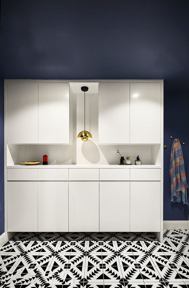 北欧风格简约玄关鞋柜设计装修图