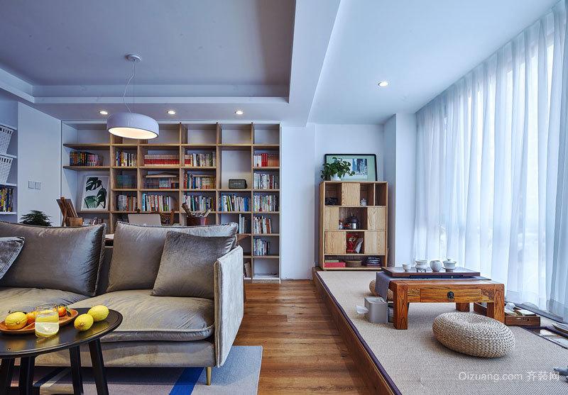 中式风格精致客厅榻榻米设计装修效果图
