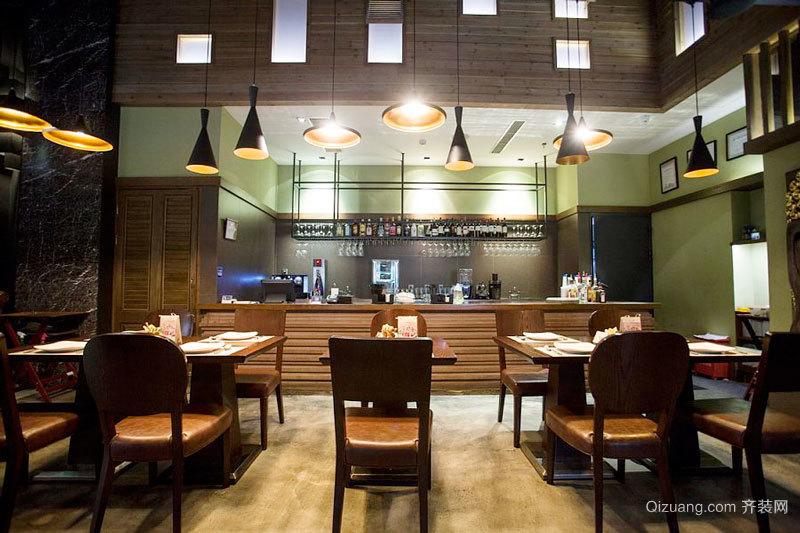现代风格精致快餐店设计装修效果图