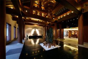 中式风格复古精致茶楼设计装修效果图