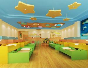 现代简约风格幼儿园教室设计装修效果图