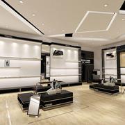 现代风格精致鞋店展柜设计效果图