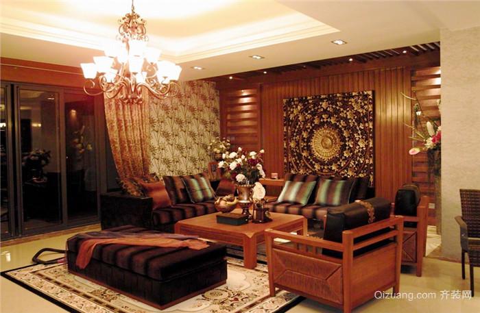 80平米东南亚风格室内设计装修实景图赏析