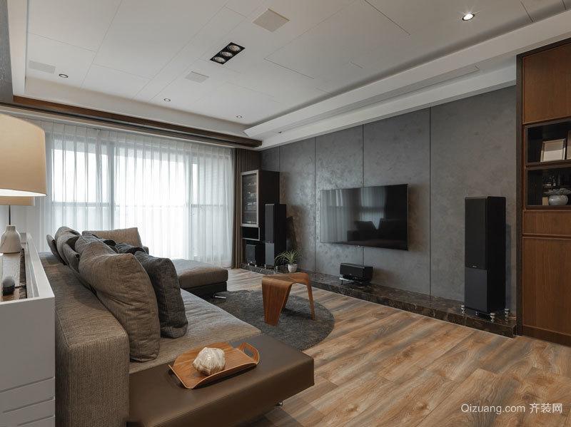 后现代风格灰色系精致客厅设计装修效果图