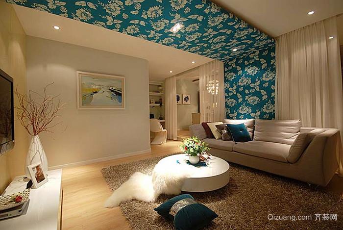 简欧风格温馨两室两厅室内设计装修效果图