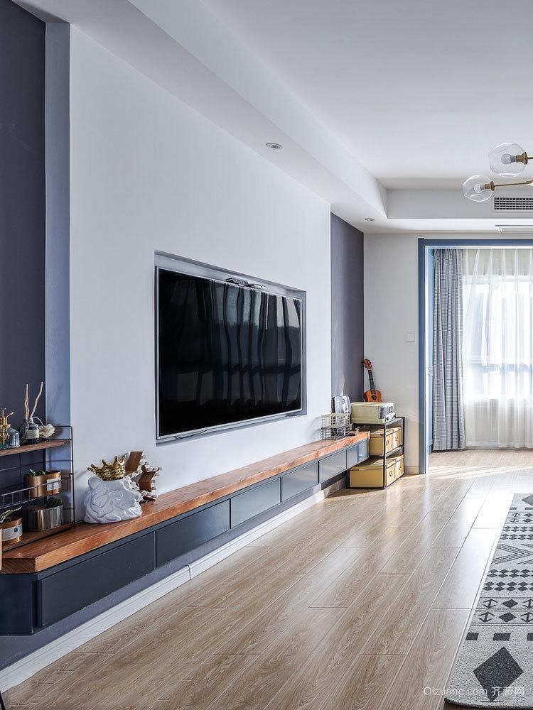 宜家风格简约客厅电视背景墙装修效果图