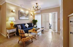 美式风格精致一居室室内设计装修效果图,外观和用料仍保持自然、淳朴的风格,隐藏设计的抽屉收纳了空间,使其看起来更整洁、美观。