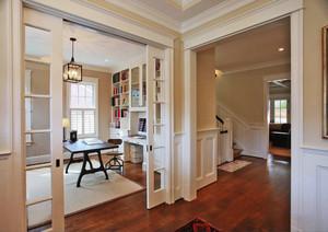 欧式风格别墅室内精致书房设计装修效果图