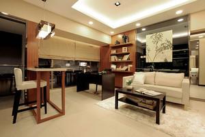 新中式风格素雅精美一居室室内设计效果图