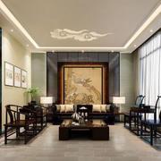 中式风格精致古典客厅设计装修效果图