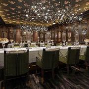 欧式风格精美西餐厅设计装修实景图