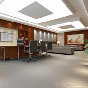 现代风格精致老总办公室设计装修效果图