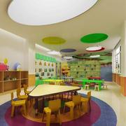 现代简约风格幼儿园教室布置装修效果图