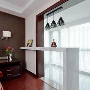 现代风格精致室内吧台设计装修实景图