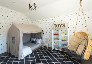 北欧风格简约温馨儿童房设计装修效果图