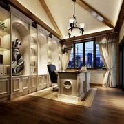 地中海风格精美书房设计装修效果图