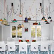 美式风格别墅时尚餐厅设计装修效果图