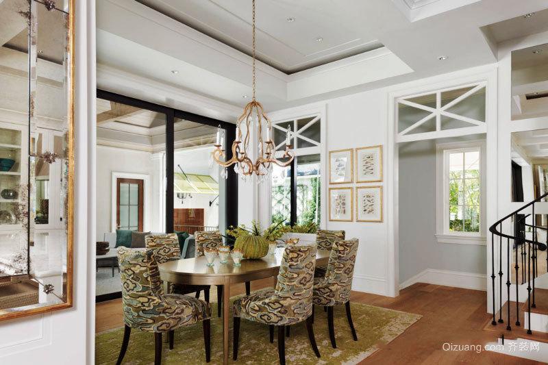 欧式风格别墅室内精美餐厅设计装修图