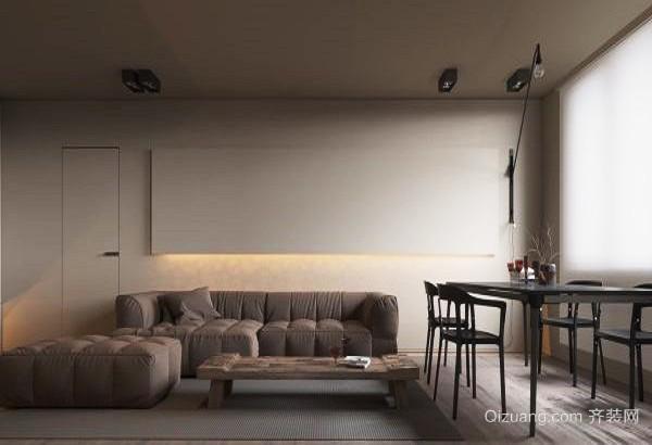 52平米现代简约风格单身公寓设计装修效果图