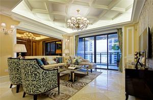 新古典主义风格精致奢华大户型室内装修效果图,高雅而和谐是新古典风格的代名词。白色、金色、黄色、暗红是欧式风格中常见的主色调