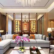 新中式风格古典时尚客厅设计装修效果图