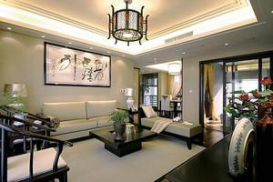中式风格精致古典大户型室内设计装修效果图,中式风格以宫廷建筑为代表的中国古典建筑的室内装饰设计艺术风格,壮丽华贵、高空间、大进深,体现着中式雅韵。