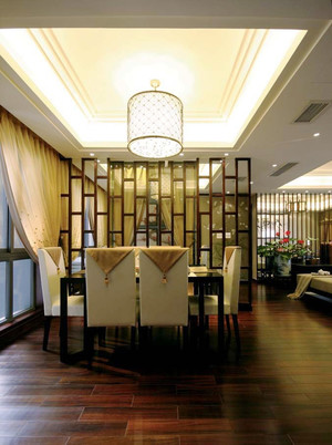 中式风格精致古典大户型室内设计装修效果图