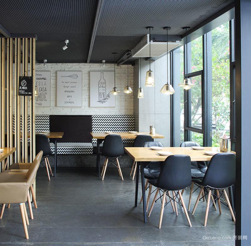 68平米简约风格精致餐厅设计装修图