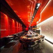 后现代风格时尚创意餐厅设计装修效果图
