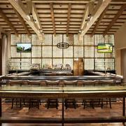复古风格时尚创意酒吧吧台设计装修图
