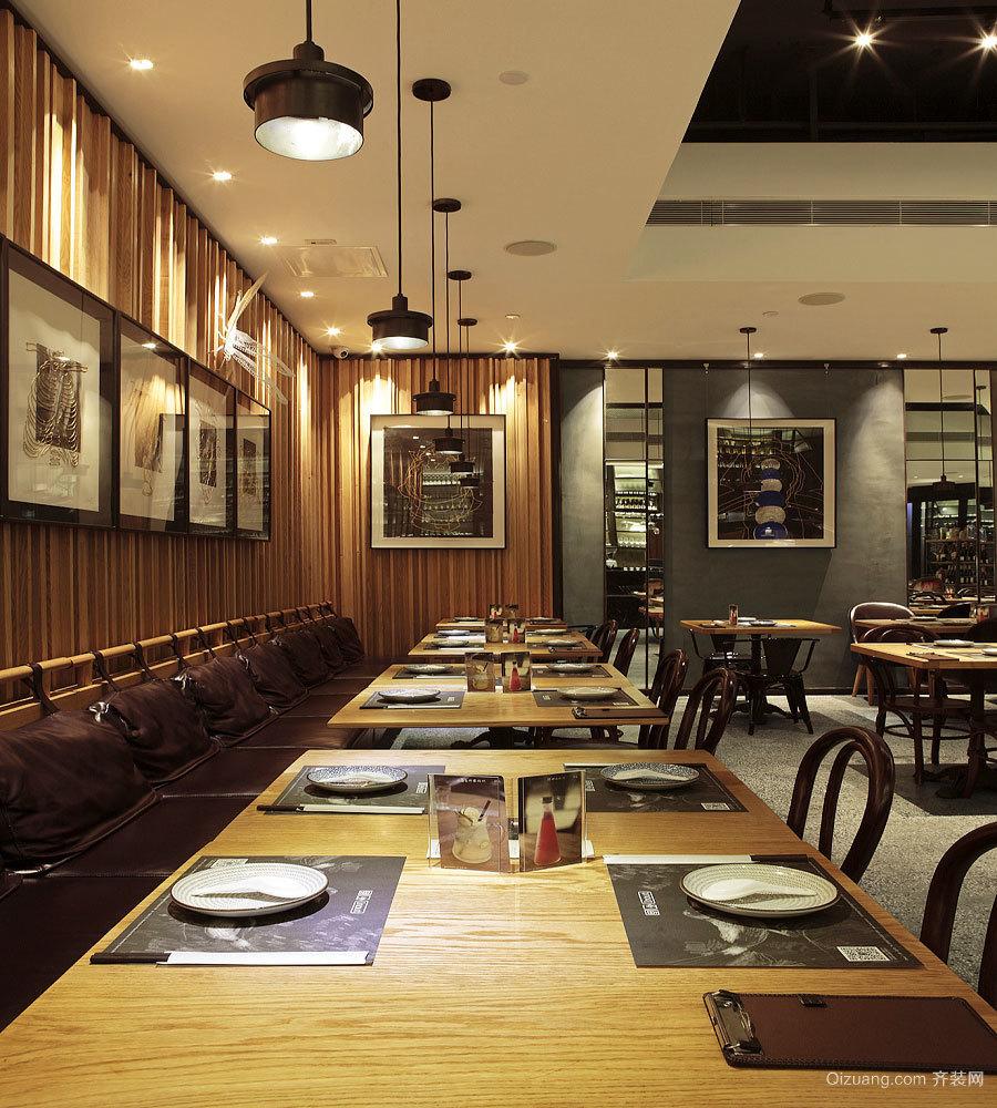 后现代风格精美时尚餐厅设计装修效果图