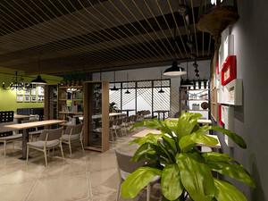 62平米简约风格咖啡厅设计装修实景图