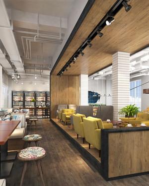 简约风格创意咖啡厅卡座设计装修效果图