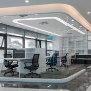79平米现代简约办公室隔断设计装修效果图