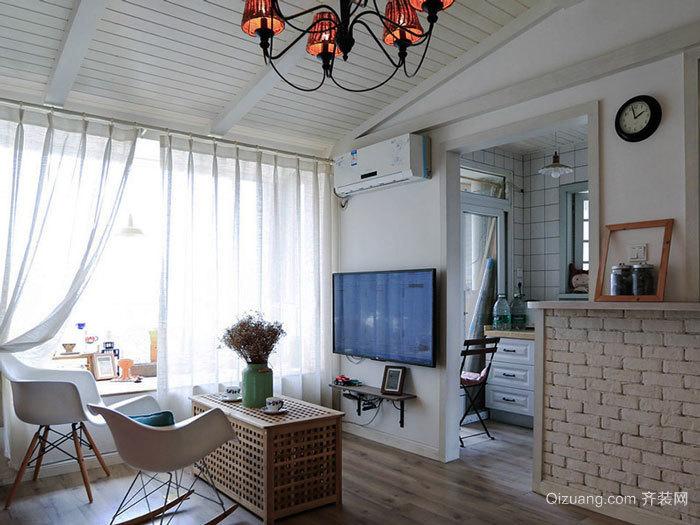 北欧风格简约小户型客厅设计装修效果图