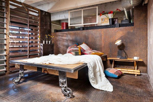 后现代风格精致工业风卧室装修效果图