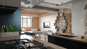78平米后现代风格loft设计装修效果图赏析