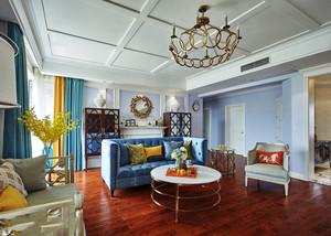 混搭风格时尚精美客厅设计装修效果图