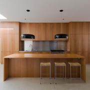 现代风格精致开放式厨房吧台设计装修实景图