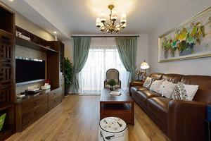 美式风格精装三室两厅两卫设计装修效果图