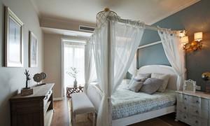 欧式风格精美清新卧室设计装修实景图