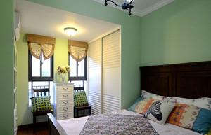 田园风格清新卧室设计装修实景图